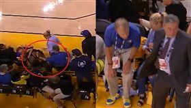 NBA/羅利救球慘摔…還遭勇迷怒推 NBA,季後賽,金州勇士,多倫多暴龍,Kyle Lowry,球迷,驅逐 翻攝自推特