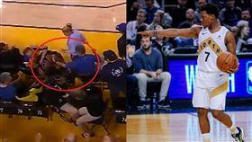 NBA/遭球迷怒推…羅利望他禁終生 NBA,季後賽,金州勇士,多倫多暴龍,Kyle Lowry,球迷,驅逐 翻攝自推特