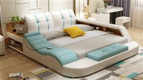 結合收納、按摩、書桌、照明的多功能床、廢人床/淘寶網