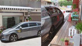 三寶大媽停車在店家門口。(圖/翻攝自爆怨公社)