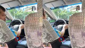 計程車司機疑似在DIY。(圖/翻攝自爆廢公社)