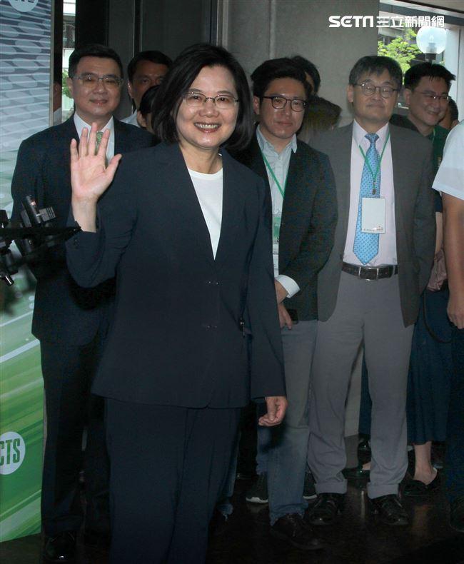 民進黨2020總統參選人賴蔡英文參加政見發表會。(記者邱榮吉/攝影)