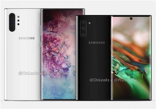 Note 10,Note 10 Pro,Oneleaks,爆料,三星圖/翻攝自推特