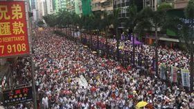 香港大遊行(圖/佔中九子之一張秀賢提供)