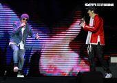 王力宏「龍的傳人2060」台北巡迴演唱會特別嘉賓黃明志。(記者邱榮吉/攝影)