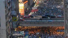 香港大遊行(圖/翻攝自香港突發事故報料區 臉書)