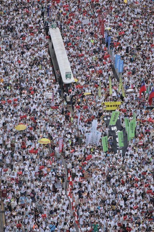 香港反送中遊行,讀者提供