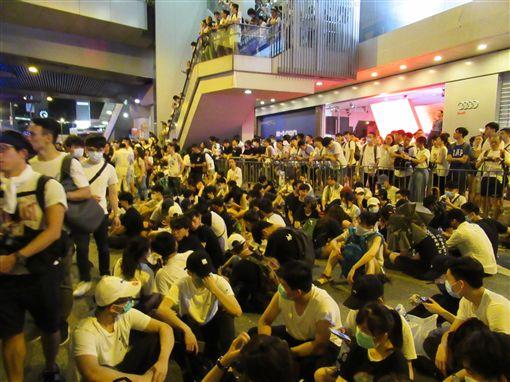 香港反送中遊行。(圖/翻攝自《香港突發事故報料區》)