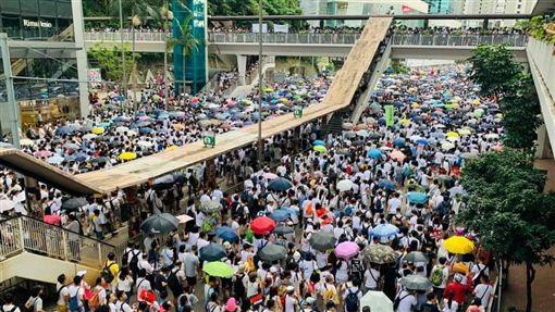 香港大遊行(圖/翻攝自全球集氣反送中 Global Solidarity with Hong Kong授權提供)