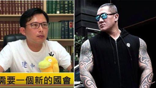 (圖/翻攝自黃國昌國會質詢Youtube頻道、飆捍臉書專頁)