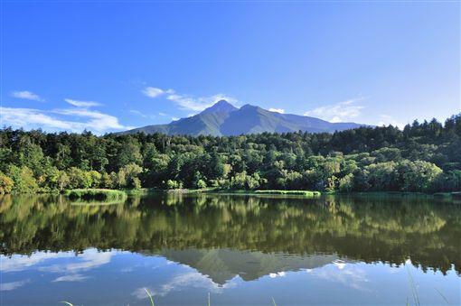 ▲遠方的山脈就是利尻島中央的利尻山(圖/shutterstock.com)