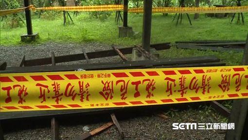台中青桐林生態區觀景平台坍塌人壓人