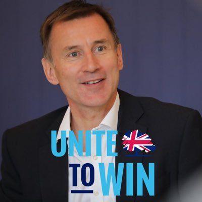 英國保守黨黨魁戰正式開打,韓特(Jeremy Hunt)獲得兩名重要閣員背書。(圖/翻攝自Jeremy Hunt推特)
