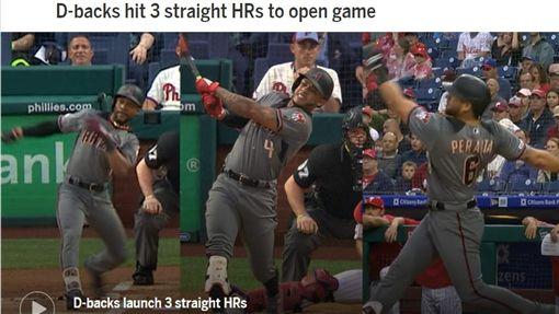 ▲響尾蛇首局連3棒全壘打。(圖/翻攝自MLB官網)