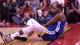 NBA/好慘!杜蘭特復出又傷同位置 NBA,季後賽,金州勇士,Kevin Durant,受傷 翻攝自推特