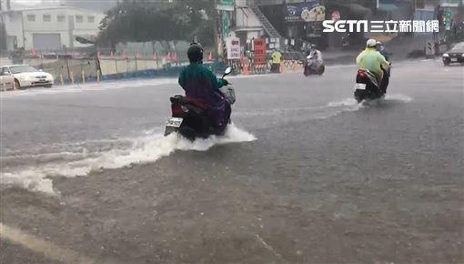 台南,豪雨,鋒面,淹水,小東路,仁德交流道