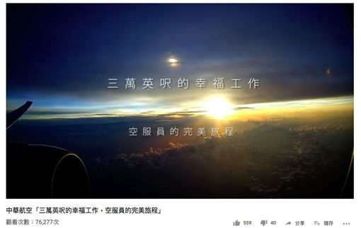 張書元,華航,空服員,空少,臉書,三萬英呎的幸福工作,空服員的完美旅程。翻攝Youtube