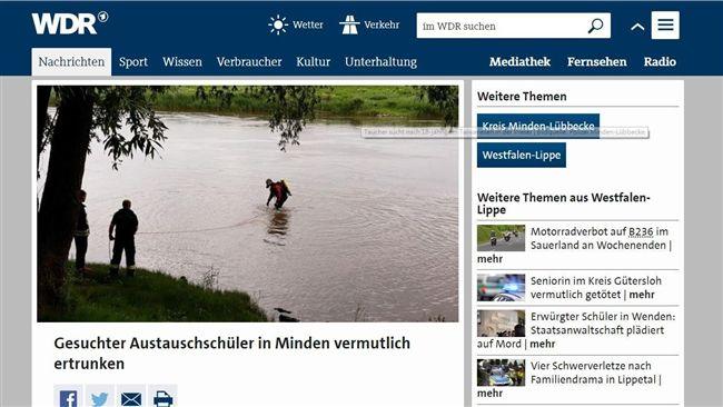 屍體沖5公里…台交換生德國溺水亡 檢方將解剖了解死因