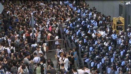 反送中0612罷市、罷工、罷課(圖/AP授權)