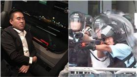 王炳忠,香港武力鎮壓(組合圖/臉書翻攝、張秀賢提供)