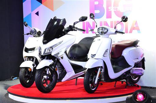 ▲除了iFlow電動機車,KYMCO也在印度推出Like 150以及X-Town兩款汽油車。(圖/鍾釗榛攝影)