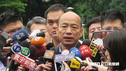 高雄市長韓國瑜13日出席行政院會。(圖/記者盧素梅攝)