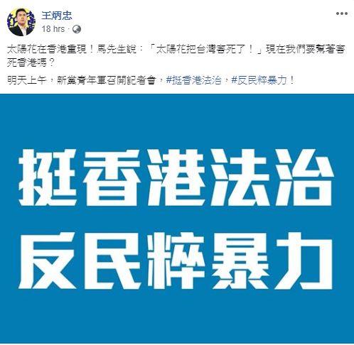 圖/翻攝自王炳忠臉書