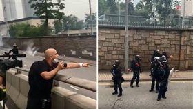 香港「反送中」抗議遊行舉世矚目,大批年輕人集結在金鐘,要求政府撤回《逃犯條例》修訂,結果傳出多起的警民衝突事件,甚至連記者都受傷。一名法國的記者不滿港警亂開槍,怒吼:「你要開槍就開槍,這是香港,不是中國,起碼今天不是。」(圖/翻攝自《ImperialPimp》YouTube)