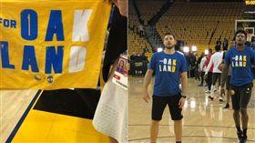 NBA/為了KD!勇士加油物超感人 NBA,季後賽,金州勇士,Kevin Durant,受傷 翻攝自推特