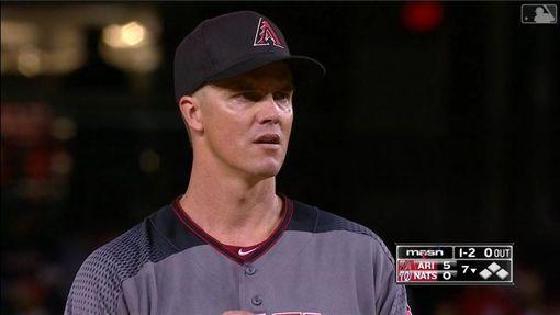 ▲葛蘭基(Zack Greinke)戰國民前6局投出無安打比賽。(圖/翻攝自MLB官網)