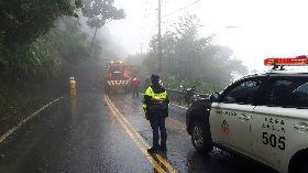 雨彈襲擊 台14甲清境路段坍方