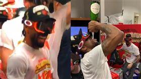 NBA/奪冠!雷納德慶祝方式超瘋狂 NBA,季後賽,多倫多暴龍,Kawhi Leonard,總冠軍 翻攝自推特
