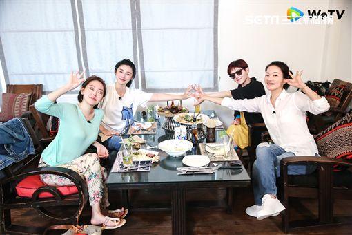 大S,小S,范曉萱,阿雅,我們是真正的朋友/WeTV提供
