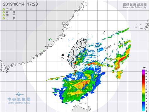 滯留鋒,鋒面,大雨,放晴,/中央氣象局