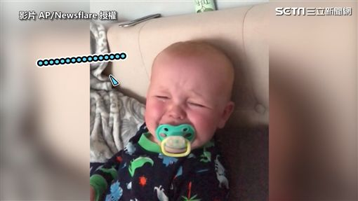 ▲對魔笑非常反感的寶寶,還嚎啕大哭了起來。(圖/AP/Newsflare 授權)