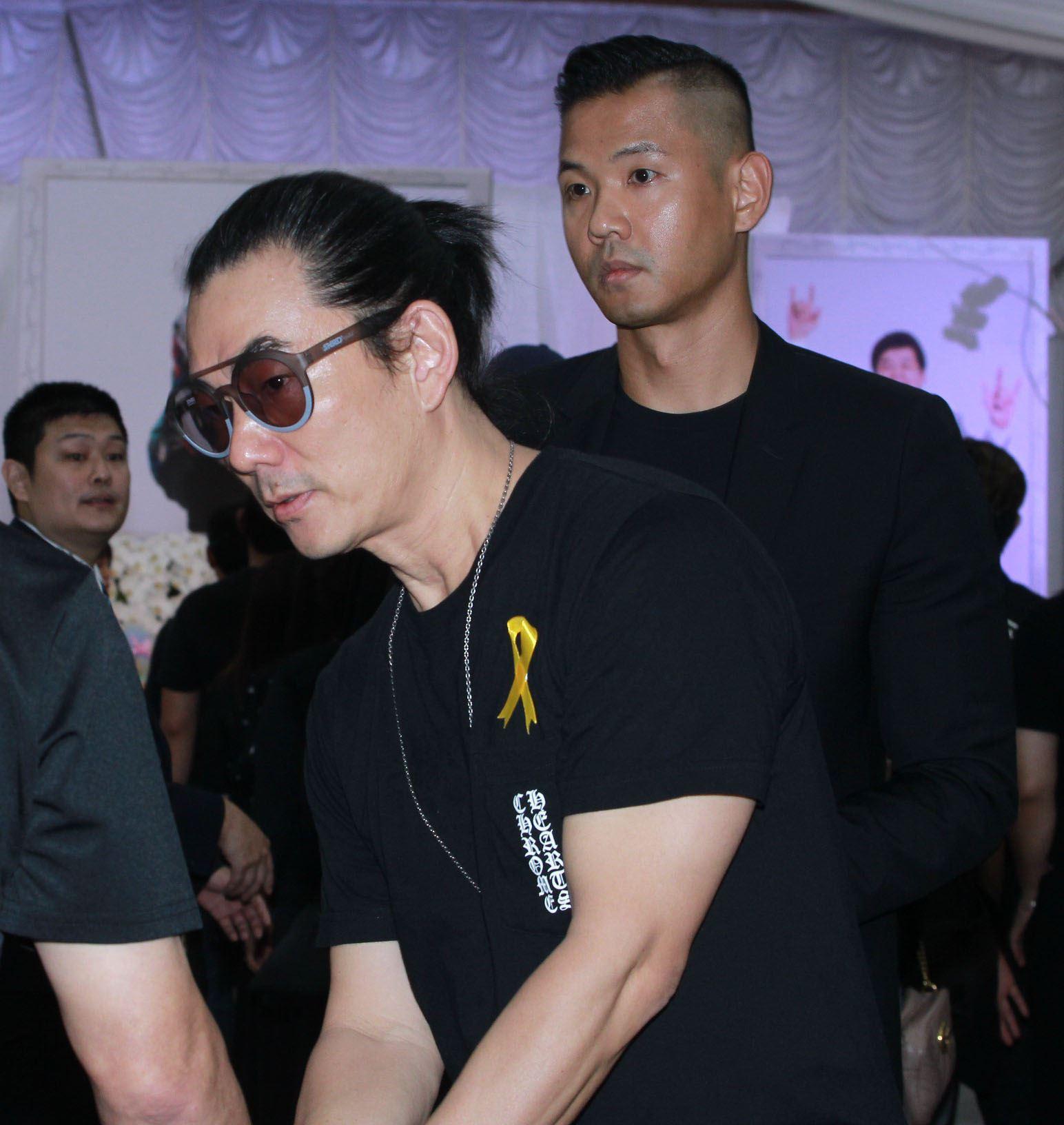 任賢齊、陳建州出席賀一航告別式。(記者邱榮吉/攝影)