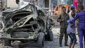 索馬利亞,汽車炸彈,青年黨,死傷。(圖/翻攝自Horn24推特)