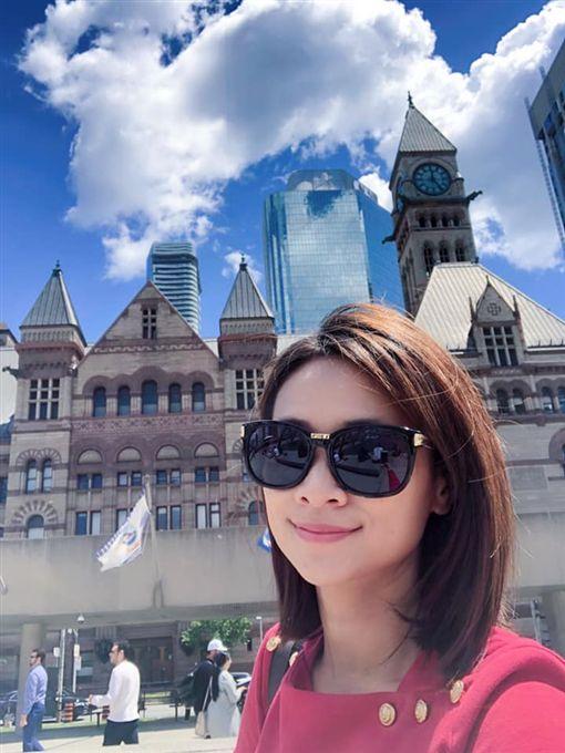 台視主播侯乃榕赴加拿大多倫多出差圖/翻攝自臉書