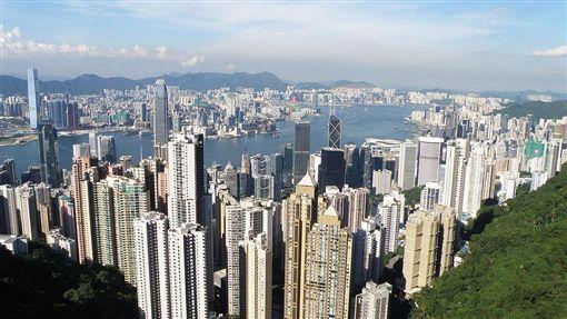 香港鳥瞰。(圖/取自維基百科)