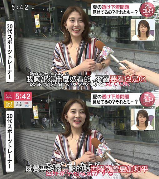 櫻花妹內衣外穿「露越多世界越和平」 網讚:提名諾貝爾獎(圖/翻攝自PTT)