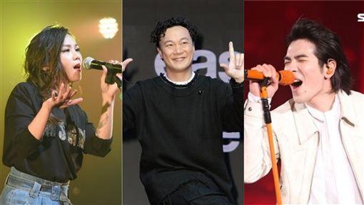 蕭敬騰,蔡健雅,陳奕迅/資料照