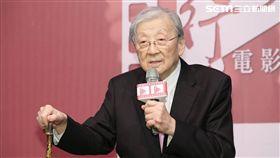 李行導演歡慶90大壽,卻難得動怒。(圖/記者林士傑攝影)