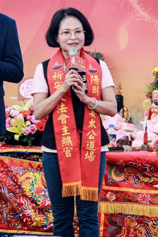 高雄姜太公道場5/18舉辦愛河點亮姻緣燈活動,前市議員王齡嬌應邀出席