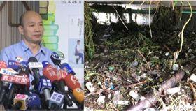 韓國瑜,溝渠淤積,組合圖