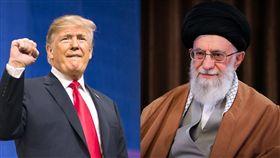 美國總統川普、伊朗總統羅哈尼 合成圖翻攝自川普、羅哈尼臉書