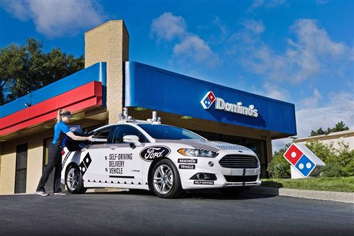 ▲Domino與Ford合作過自動駕駛車外送計畫。(圖/翻攝網站)
