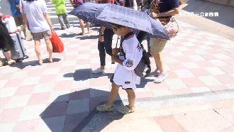 颱風璨樹走 雙北4縣市「高溫警示」
