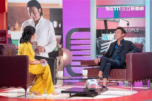 梁家輝為宣傳主演電影《追龍II:賊王》上《TVBS看板人物》 圖/TVBS提供