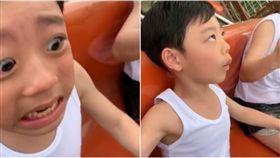 遊樂園,海盜船,男童,表弟,害怕(圖/網友陳俊明授權)
