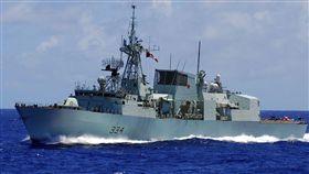 加拿大皇家海軍哈利法克斯級巡防艦里賈納號,圖取自維基共享資源網頁,版權屬公有領域